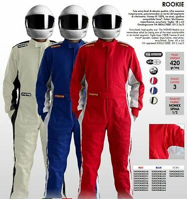 MOMO Racing Rally Suit Overalls Rookie FIA Approved Race suit Red Black Blue