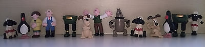 WALLACE & GROMIT FIGURINE COLLECTION  - W&G 1989 - 11 figurines 2 pencil toppers