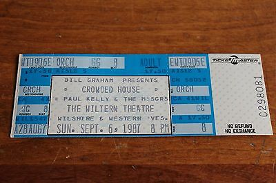 Crowded House -  Concert Ticket - FREE POSTAGE -