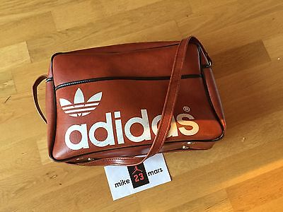 Adidas Vintage No Retro bowling leather bag from 1970 Nmd Yeezy Eqt Boost