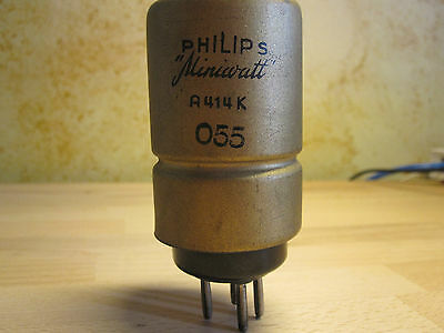 1x PHILIPS A414K TRIODE  Röhre A414 K Detector & LF amplification GOLD METAL TOP
