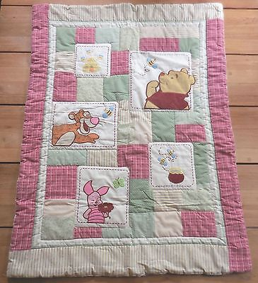 Disney Winnie the Pooh Piglet Tigger Baby Plaid Quilted Crib Comforter