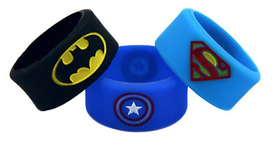 Batman, Superman and Captain America Silicone Thumb Rings, Fashion Finger Ring