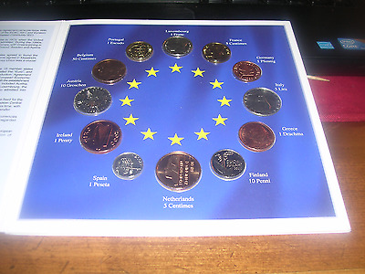 Euro Zone Countries-Collection Of The Last National Coins-12 Coin Set