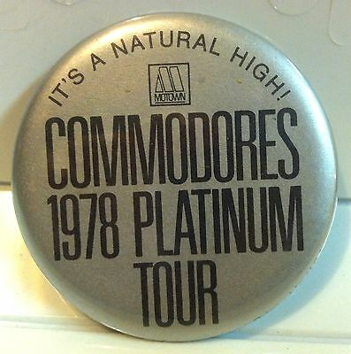 Commodores Tour Lionel Richie Rare 1978 Motown Records Promo Pinback Button Pin