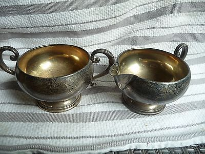 Sterling Silver Amston Brand Vintage  Sugar and Creamer 167.29 grams Total
