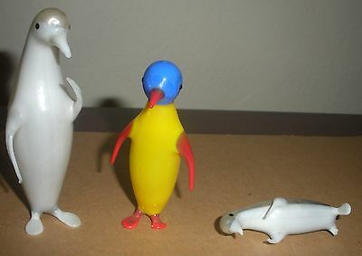 "3 Glass Penquins - Made in Germany ""AS IS"""