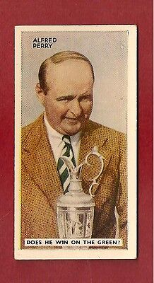 ALFRED PERRY British Open Golf Winner 1935 original card
