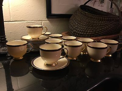 Lenox Presidential Collection HAMILTON Footed Cup & Saucer Set - up to 10 Avail