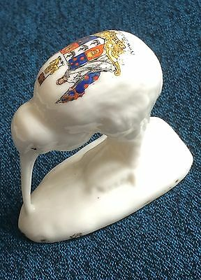 Rare New Zealand Vintage or Antique Crested China Maori Kiwi by Frank Duncan