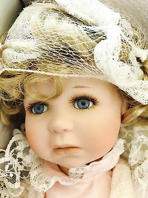 "19"" Pouty Kirsten Paradise Galleries Porcelain Doll W/teddy Bear COA"