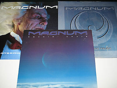 "Magnum - Days Of No Trust + Heartbroke and Busted + Rockin' Chair (3xVinyl 12""s)"