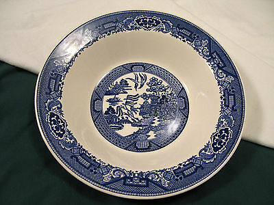 "ROYAL CHINA Blue WILLOW WARE 10 1/8"" Round SERVING BOWL"