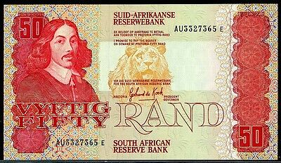 SOUTH  AFRICA  50 RAND (1984-1990)   P 122a  Sign 6 AU/UNC  Uncirculated