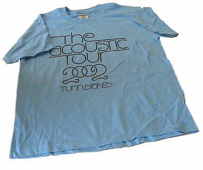 TURIN BRAKES Acoustic Tour 2002 kids t-shirt Age 9-10 pale blue/black print