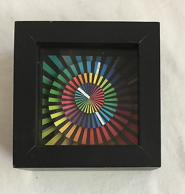"Cleverclock Spectrum 5"" Desk Clock Cleverclocks Works Great! Very cool! Rainbow"