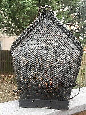 "16"" Pasiking Rattan Backpack Ifugao Tribal Philippines handicraft handwoven"