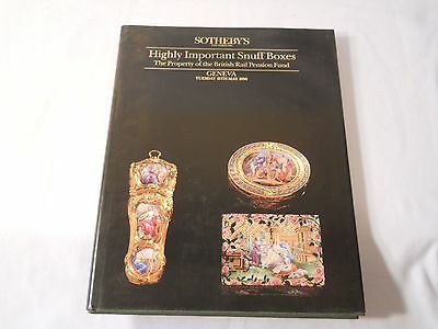 Highly Important Snuff Boxes  British Rail Pension Fund Sotheby's 1990