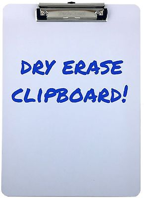 Clipboard Dry Erase Surface Low Profile Clip Whiteboard Single (Pack of 1)