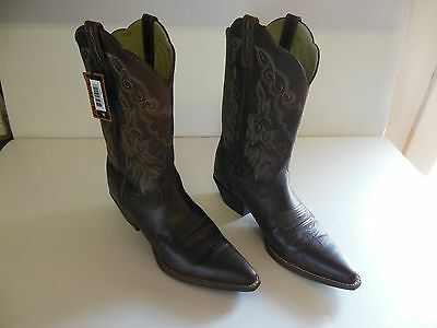 NEW Womens Ariat Sassy Brown Leather Cowboy Ranch Boots Size 9.5 9 1/2 B Med!!!