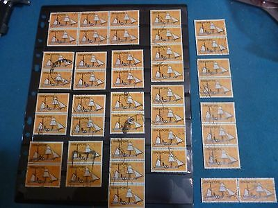Singapore 1980 $10 ship block of 6 two blocks of 4 high values FREE SHIPPING