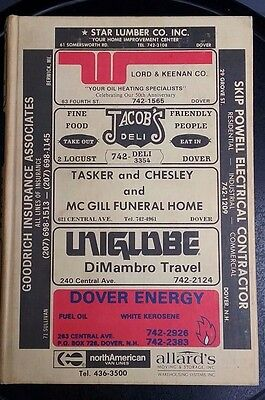 Vtg Mannings City Directory hard cover phone book Dover NH 1982 genealogy histor