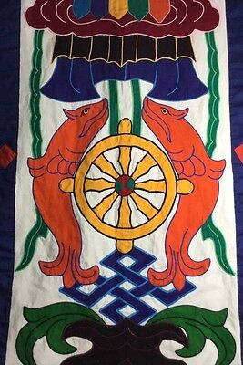 Vintage Nautical Textile Wool Wall Hanging Canvas Embroidery Banner