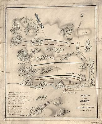 12x18 inch Reprint of American Military Map Bladensburg