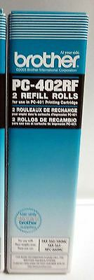 GENUINE BROTHER PC-402RF 2 Refill Rolls for PC-401 PC-501 Cartridge NEW SEALED