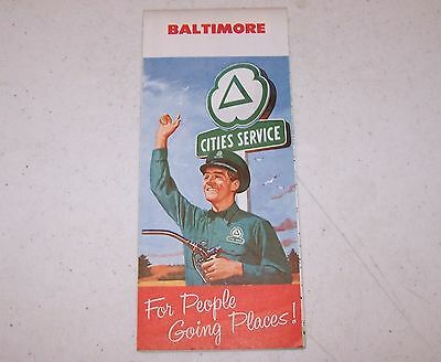 1958 Cities Service Baltimore Map