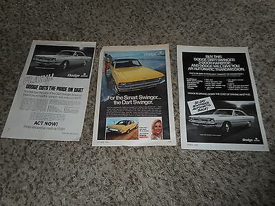 Vintage Original (3) diff 1970 Dodge Dart Swinger 340 Magazine Ad Advertisement