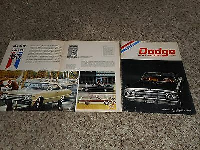 Vintage Original 1965 Dodge Polara Monaco SW Magazine Ad Advertisement