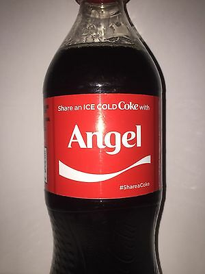 Share A Coke With Angel Personalized Name Coca Cola Collectible Bottle.