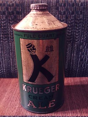 Very Nice Krueger Cream Ale Quart Cone Top - G. Krueger Brewing Co., Newark, NJ