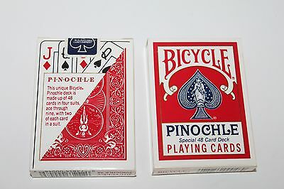 Bicycle Brand Pinochle Playing Cards, 2 Decks, New, Sealed