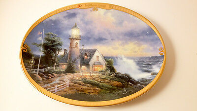 Lighthouse Cottage Thomas Kinkade's Guiding Lights Bradford Exchange 1995