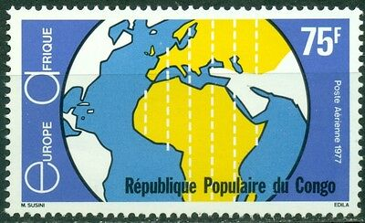 Congo People's Republic Scott C233 MNH Europafrica Issue Map $$