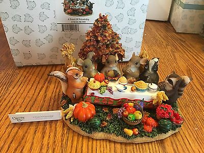 """Charming Tails """"a Feast Of Friendship """" Fitz And Floyd Thanksgiving"""