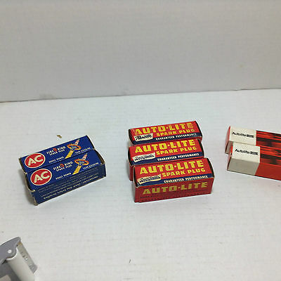 vintage spark plugs NEW auto-lite AGR41(X3) ,ARF41(X2), AC FIRE RING 44s(x2)