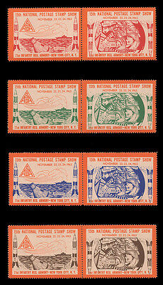 Asda Stamp Show Labels- 1963, Perforated, Set Of 8 With Inverted Centers