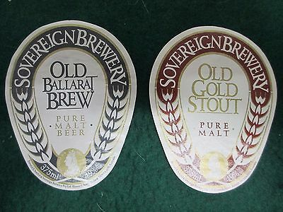 2x Sovereign Brewery Beer Labels