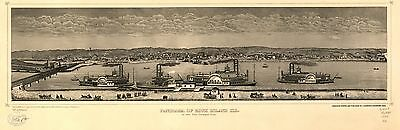 12x18 inch Reprint of American Cities Towns States Map Rock Island Illinois