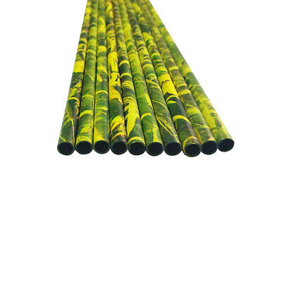 12X Pure Carbon Arrow Shafts Wood Camo ID 6.2mm for Traditional Archer Hunting