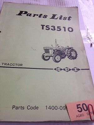 Iseki TS3510 Parts Book
