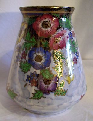 Maling Porcelain Vase Anemone Grey  6383 Exc Con