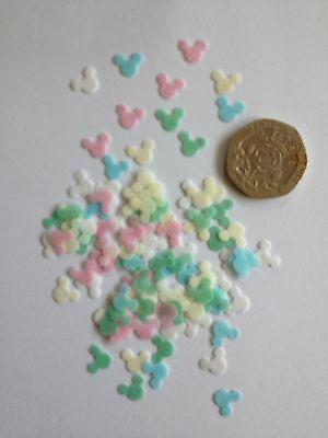 250 Mini Edible Rice Paper Mickey Mouse cupcake sprinkles/cakepop decorating