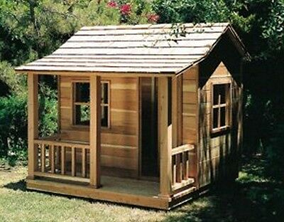 Plan (Only) To Build Wooden Playhouse 6 X 6Ft With Porch