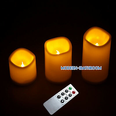 Timer 3pcs Led Electric Tea Lights Candles Battery Operat Flickering With Remote