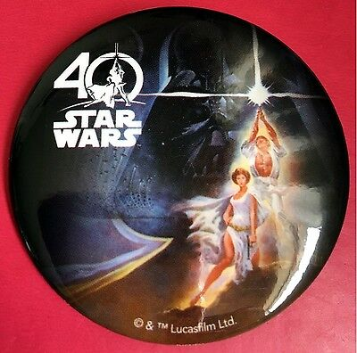 Disney Button ~ Star Wars 40th Anniversary Button Pin Very Hard To Find NEW