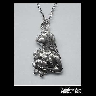 Pewter Necklace ZODIAC #1535 VIRGO (Aug 23 - Sept 22) 16mm x 29mm